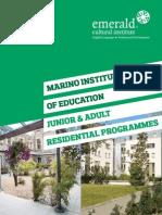 Marino College Residential Programmes 2014
