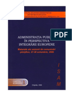 Administratia publica in perspectiva integrarii europene