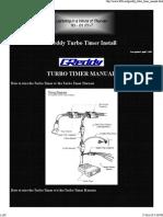 Greddy Turbo Timer Installation Manual