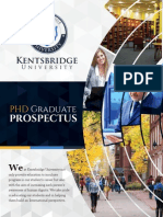 Kentsbridge University PHD program prospectus