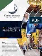 Kentsbridge University PHD program prospectus