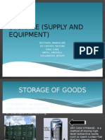 Storage (Supply and Equipment)
