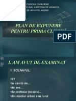 53035816 Plan de Expunere Pentru Proba Clinică
