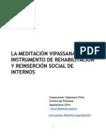 LA MEDITACIÓN VIPASSANA COMO INSTRUMENTO DE REHABILITACIÓN Y REINSERCIÓN SOCIAL DE INTERNOS dossier 1 (1).doc