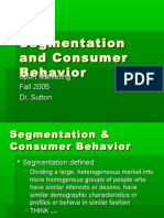Segmentation and Consumer Behavior[1]