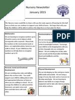 Nursery Newsletter Spring Term 2015