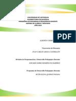 Programación 2015 Programa de Desarrollo Pedagógico Docente