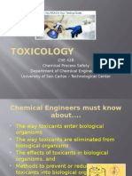 ChE 428 Slide 3 - Toxicology
