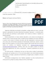 UCP, Mestrado Em Ciências Da Educação, Especialização