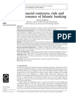 Financial contracts, risk and performance of Islamic banking