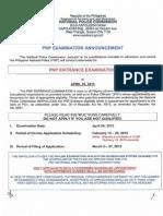 Entrace Exam April 2015