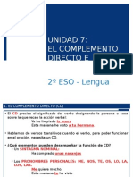 2o ESO - Lengua Tema 07 (El CD y el CI).ppt