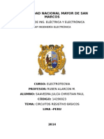 CIRCUITOS RESISTIVOS BÁSICOS