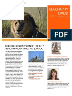 Geography Lives! Newsletter 2015