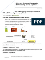 Mrunal.org-Economy Sugar Pricing and Decontrol Rangarajan Committee FRP vs SAP Meaning Issues Explained Mrunal