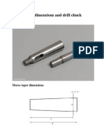 Morse Taper Dimensions and Drill Chuck Arbors