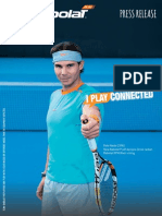 Babolat Play press release, January 9th, 2015