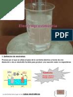 Electrogravimetría