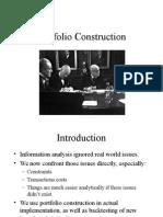 Portfolio Construction