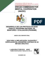 Guia Implantacion Validacion y Verificacion de Metodos Analiticos Inecc 2013