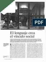 DUNBAR, Robin - El Lenguaje Crea El Vínculo Social (MC, 224)