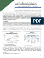 Boletín Economía y Demanda Profesional-Último Trimestre