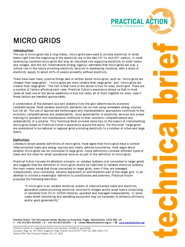 Micro Grids | Photovoltaics | Wind Power