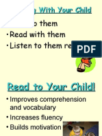 reading with your child workshop