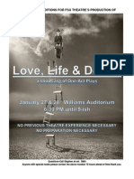 FSU Theatre's Production of Love, Life & Death
