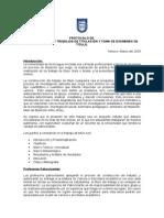 PROTOCOLOS Protocolo de Construcción Trabajo de Titulo
