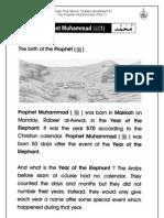 Grade 1 Islamic Studies - Worksheet 4.1 - Prophet Muhammad (Part 1)