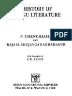 A History of Telugu Literature by Chenchiah and Bhujanga Rao
