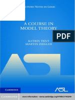 (Lecture Notes in Logic) Katrin Tent, Martin Ziegler-A Course in Model Theory-Cambridge University Press (2012) (1).pdf