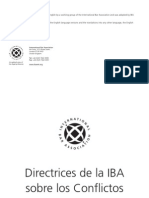 Guidelines on Conflicts of Interest in Intl Arbitration 2004 - SPANISH