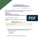 Actividad de Aprendizaje Activo 1 Funciones Dominio y Rango