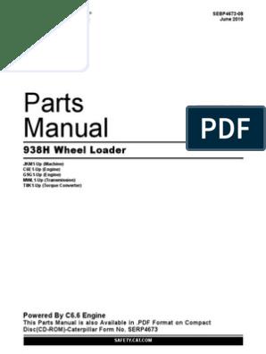 manual de partes cat 938 h   rotating machines   internal combustion engine  scribd