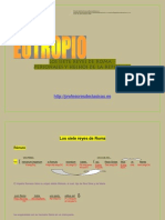 Eutropio.traducción y Análisis. Los 7 Reyes de Roma. Personajes y hechos de la República