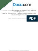 Prácticas Introducción Al Derecho Procesal Casos Prácticos Resueltos Procesal