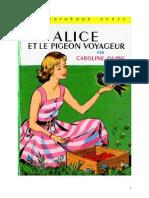 Caroline Quine Alice Roy 10 BV Alice et le pigeon voyageur 1933.doc