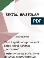 textul epistolar inspectie