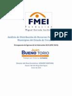 Distribucion Aportaciones Federales Mpios Veracruz 2015