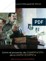 Iósif Vissariónovich Dzhugashvili, Stalin; Sobre el proyecto de constitución de la Unión Soviética; Bitácora de un NICARAGÜENSE.pdf