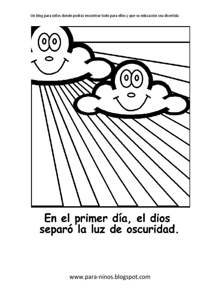 Imagenes Para Pintar De La Creacion De Dios Laminas De La Biblia