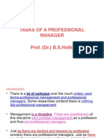 3 Tasks of a Professional Manager PPT H.R