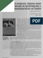 WORK IN PROGRESS (historiografia de cine española en los 90)
