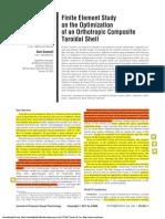 Finite Element Study on the Optimization of Orthotropic Toroidal Shell
