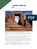 El Misterio de Las Ruinas de Tiahuanaco