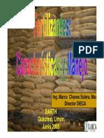 PP Fertilizantes Características y Manejo 2005