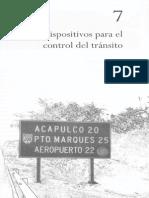 Ingeniería de Tránsito - Capítulo 7, Dispositivos Para El Control Del Tránsito