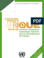 CNUCED Le développement en Afrique rapport 2009